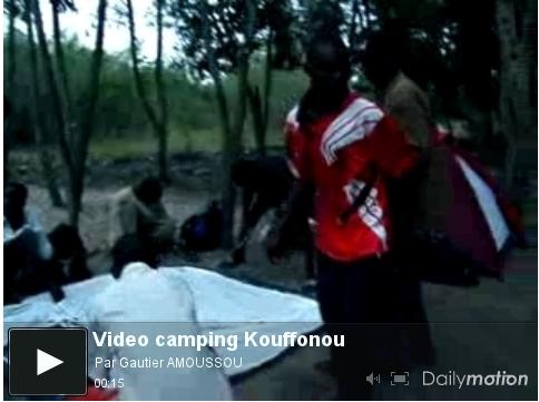 Installation au camping lac Ahémé