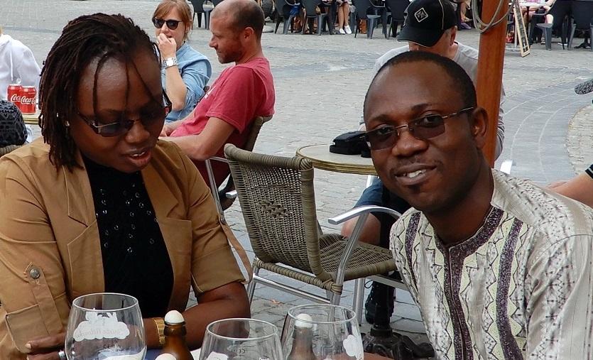Deux membres de l'équipe d'Eco-Benin feront la présentation finale des projets élaborés pendant le stage à Gembloux