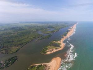 Drone Bénin photographie la Réserve Bouche du Roy
