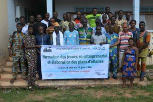 Entrepreneuriat et plans d'affaires, 20 jeunes en formation à Possotomé