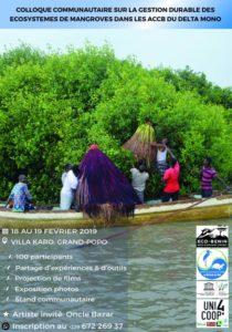 colloque communautaire sur la gestion durable des écosystèmes de mangroves