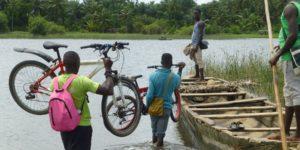 Le lac Ahémé en roue libre