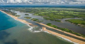 Eco-Bénin - vue aérienne Bouche du Roy