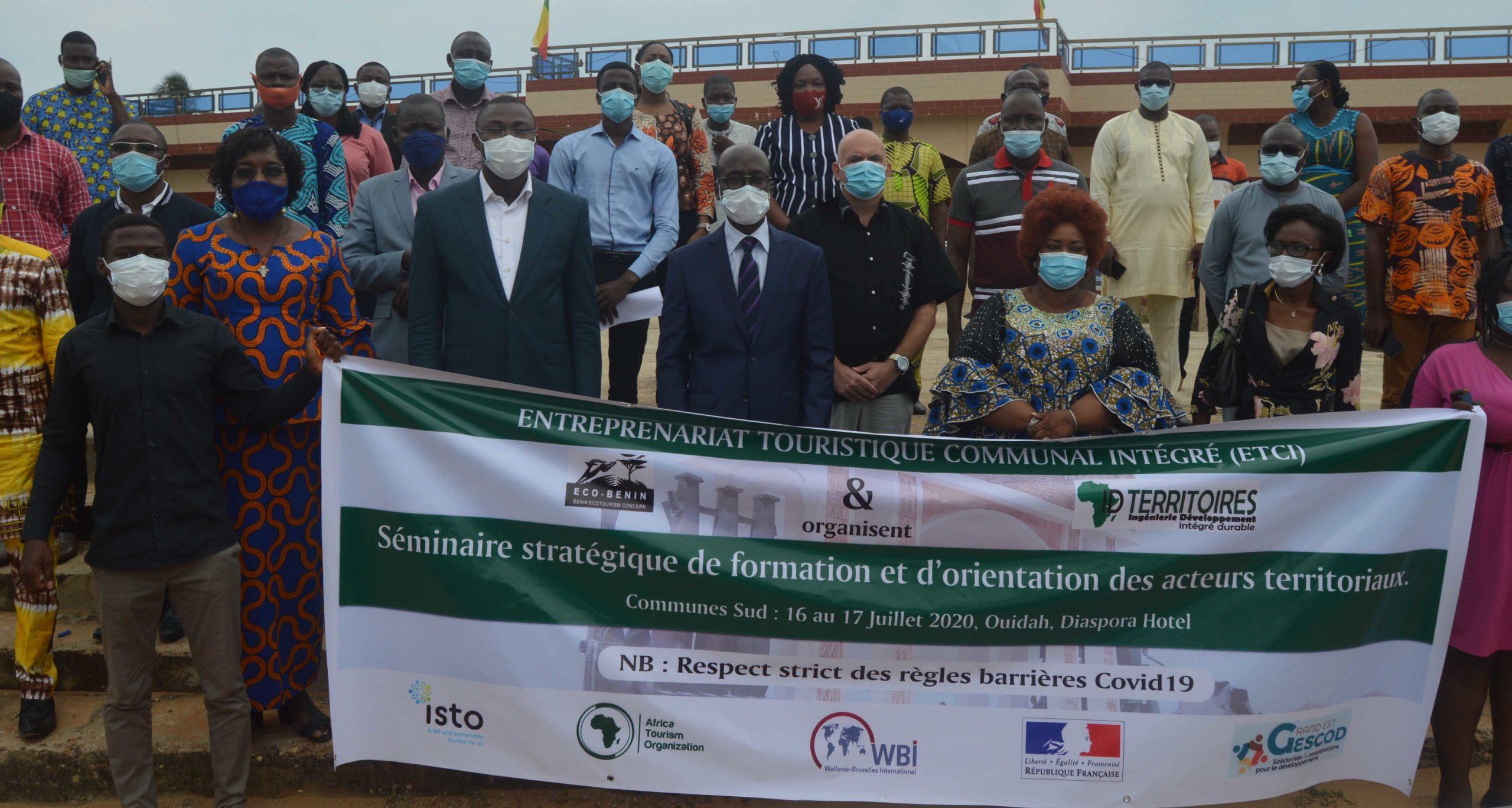 Entreprenariat touristique intégré: Ouidah accueille un séminaire de formation et d'orientation des acteurs territoriaux.